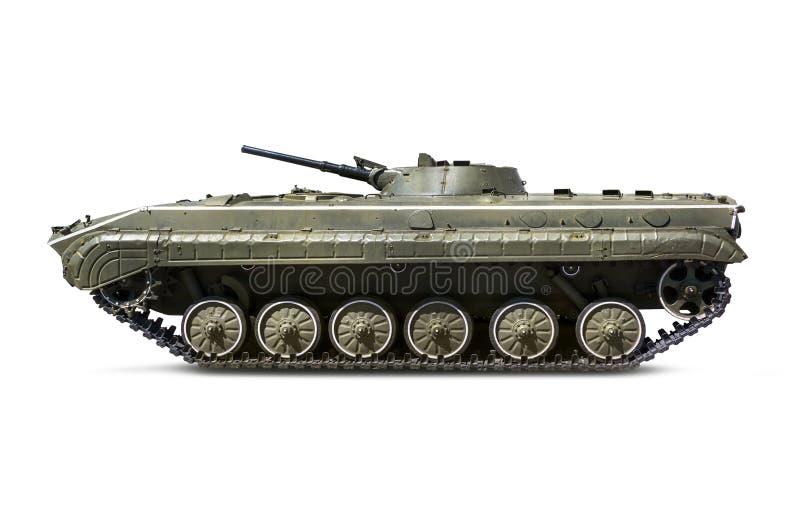 El tanque ligero BMP-2 de la infantería rusa con la trayectoria de recortes fotos de archivo libres de regalías