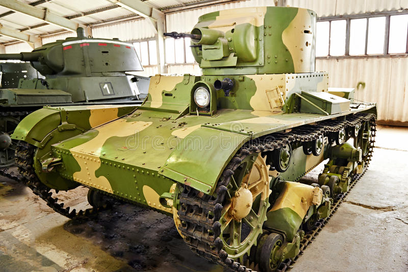 El tanque llama-que lanza OT-130 del soviet fotografía de archivo