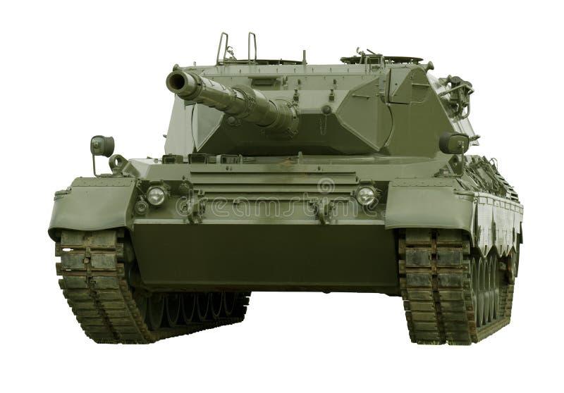 El tanque militar del leopardo en blanco