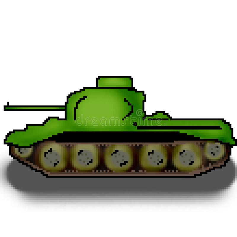 El tanque multicolor militar exhausto del pedazo del pixel 8 libre illustration