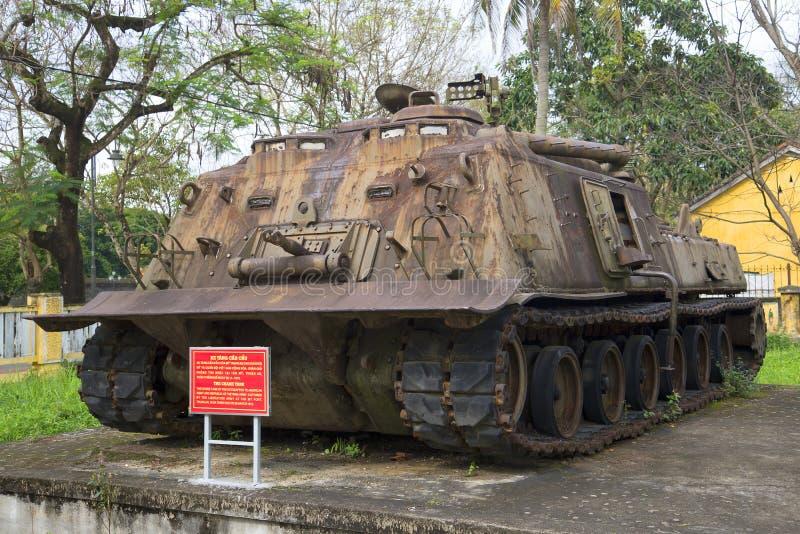 El tanque pesado americano El museo de la ciudad de la tonalidad, Vietnam fotos de archivo