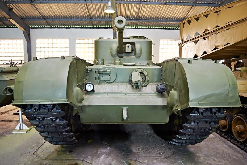 El tanque pesado británico Churchill de la infantería imágenes de archivo libres de regalías