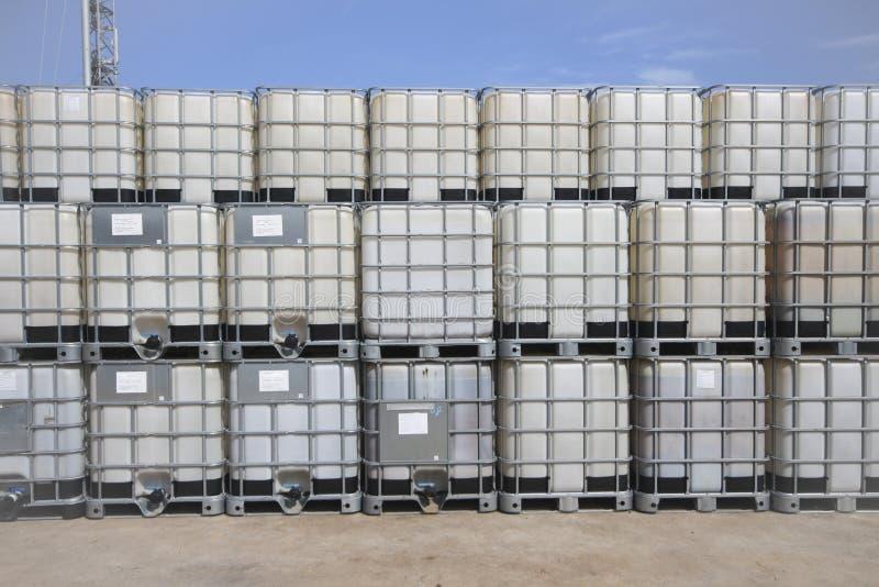 El tanque químico plástico imagen de archivo libre de regalías