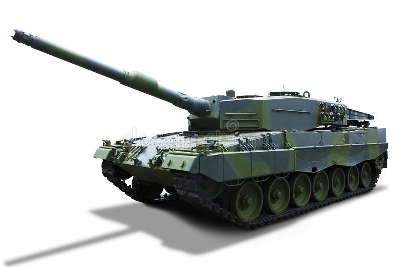 El tanque ruso - aislado imagen de archivo