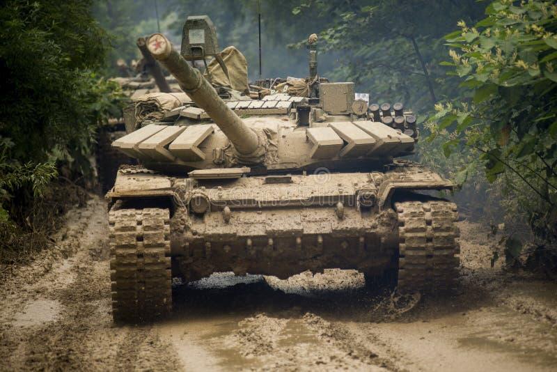 El tanque ruso T-90 foto de archivo