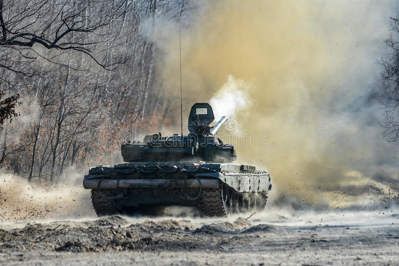 El tanque ruso T-72 imagen de archivo