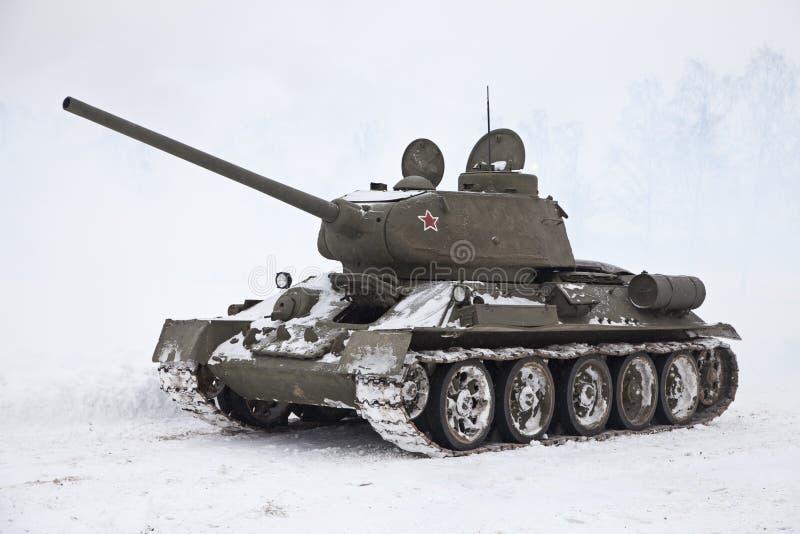 El tanque ruso T34 imágenes de archivo libres de regalías