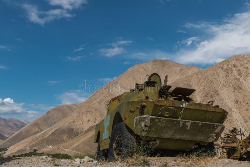 El tanque soviético en Afganistán fotografía de archivo