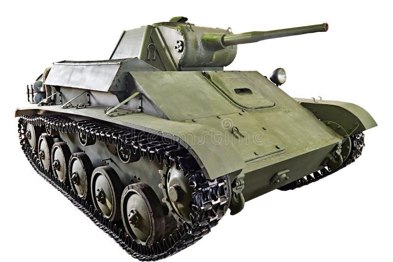 El tanque soviético T-70 de la infantería ligera aislado fotos de archivo libres de regalías