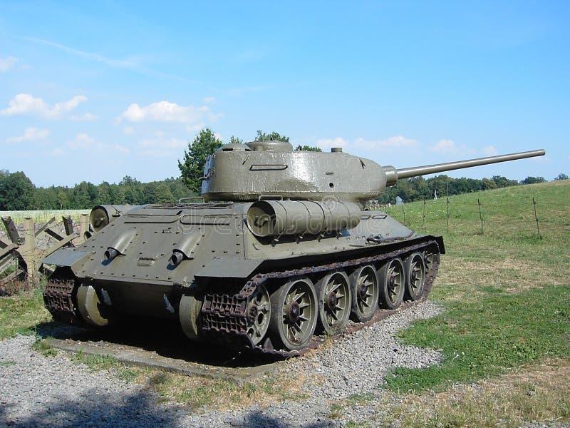 El tanque t-34 foto de archivo