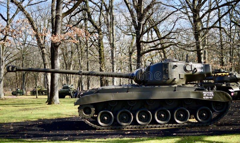 El tanque T26E4 imagenes de archivo