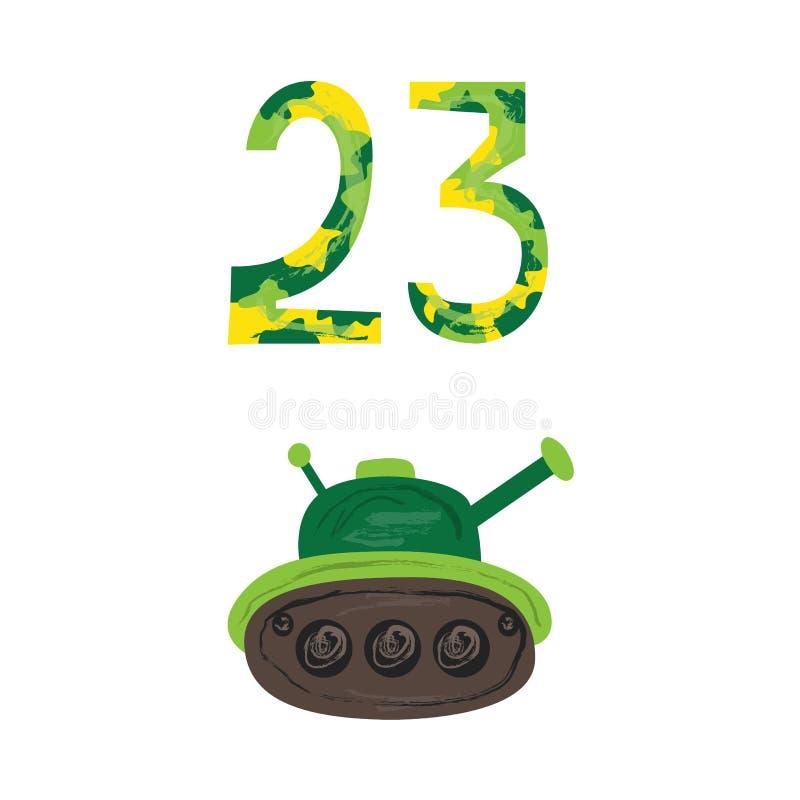 El Tanque Verde Militar, 23 Camufla El Icono De Los Números ...