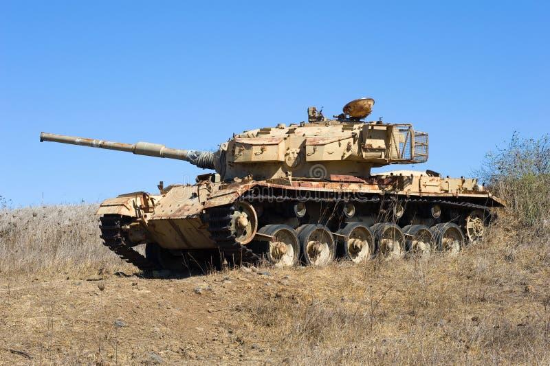 El tanque viejo de guerra foto de archivo libre de regalías