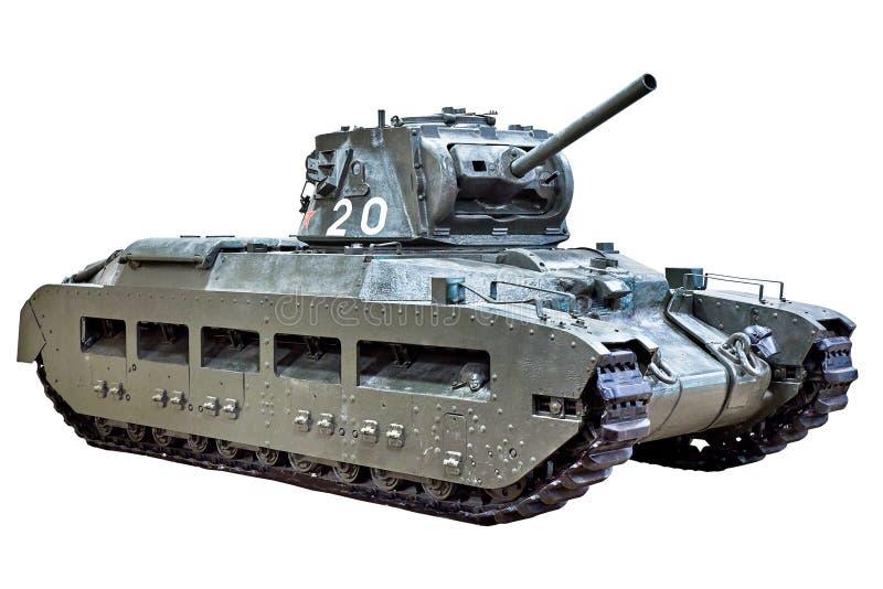 El tanque viejo de la infantería aislado foto de archivo libre de regalías