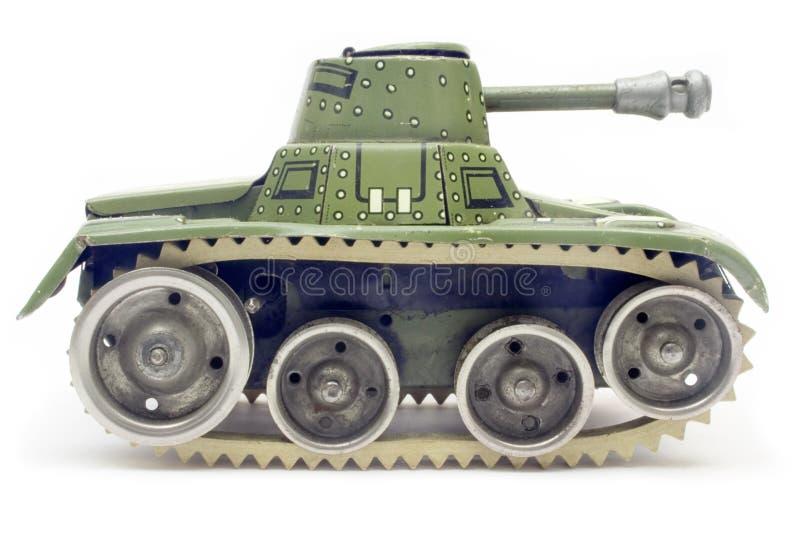 El tanque viejo del juguete (vista lateral) imagen de archivo