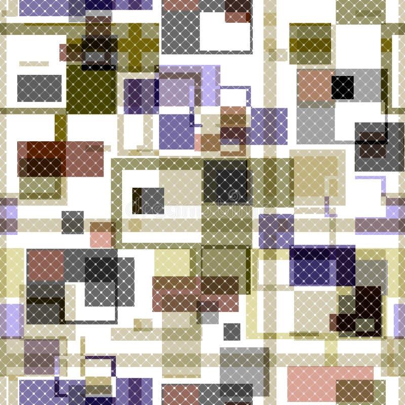 El tartán a cuadros inconsútil de la tela escocesa rayó las líneas modelo abstracto libre illustration