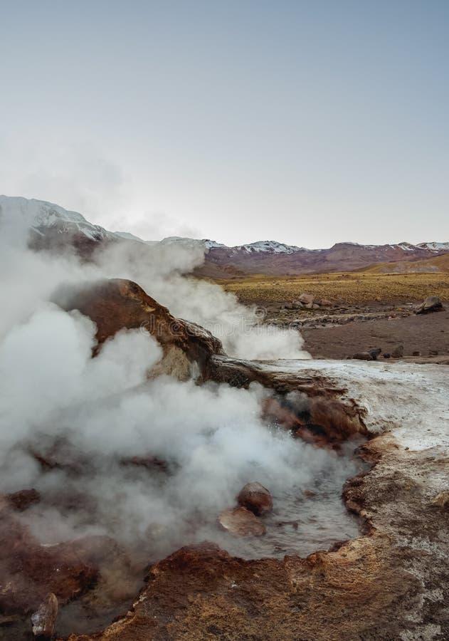 EL Tatio de geysers au Chili photos libres de droits