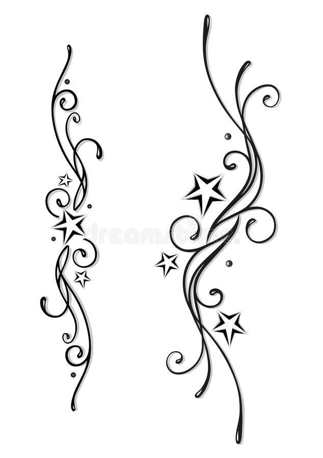 El tatuaje, tribal, protagoniza ilustración del vector