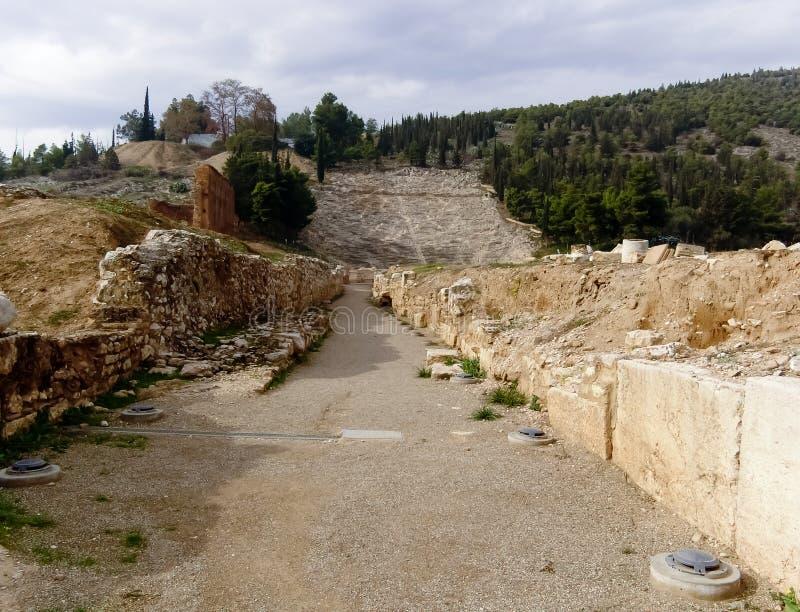 El teatro de Argos foto de archivo libre de regalías