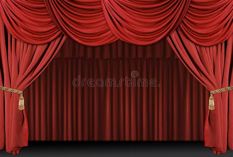 El teatro de la etapa cubre el fondo stock de ilustración