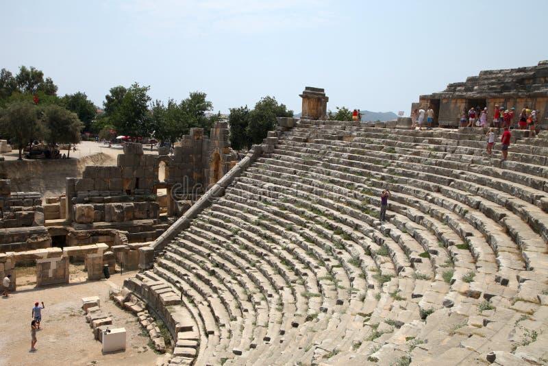 El teatro de Myra fotos de archivo