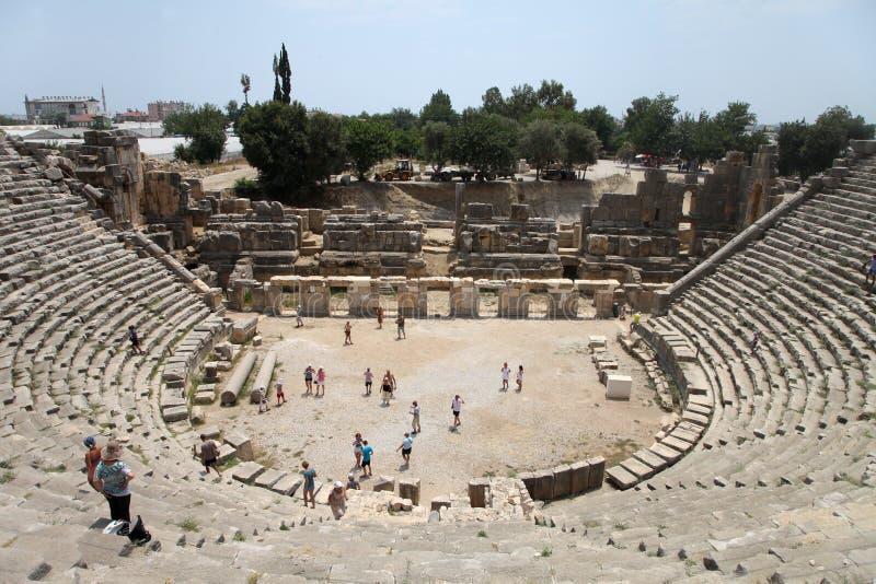 El teatro de Myra imagen de archivo libre de regalías