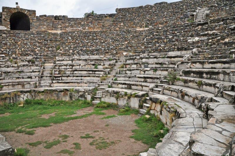 El teatro de Odeon de Bouleuterion foto de archivo libre de regalías