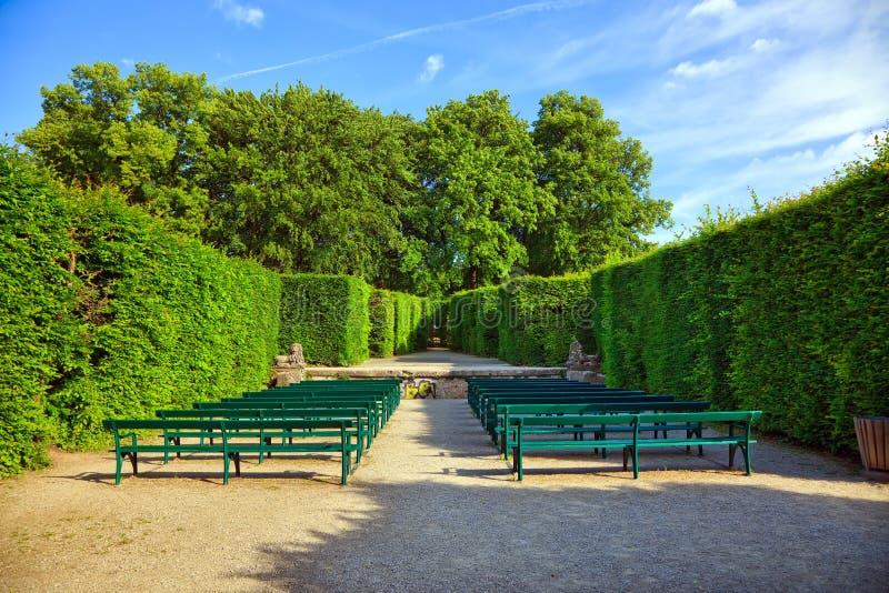 El teatro del seto en los jardines de Mirabell foto de archivo libre de regalías