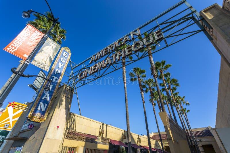 El teatro egipcio Hollywood, Hollywood Boulevard, Hollywood, Los Angeles, California, los Estados Unidos de América, del norte foto de archivo