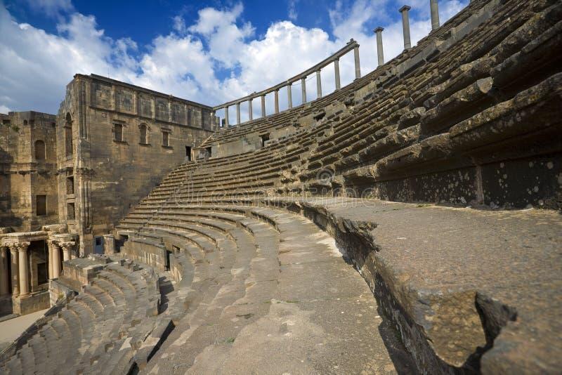 El teatro en Bosra foto de archivo libre de regalías