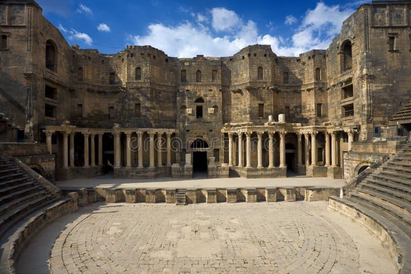 El teatro en Bosra fotografía de archivo