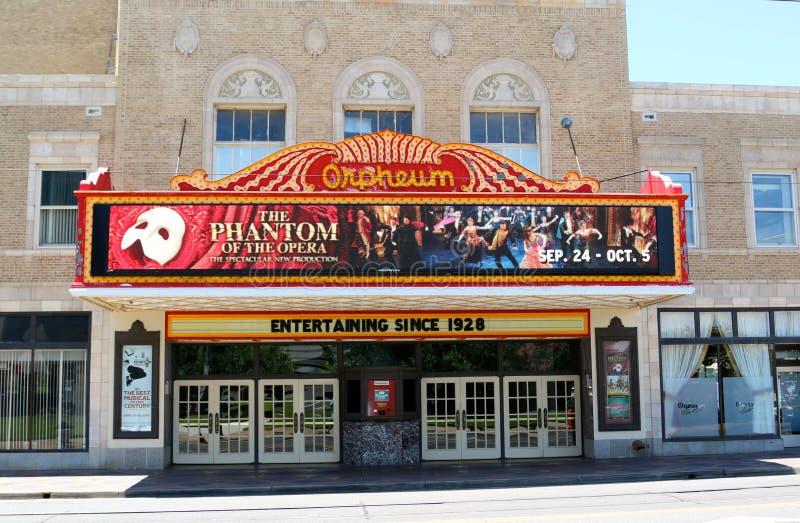 El teatro famoso de Orpheum, Memphis Tennessee fotografía de archivo