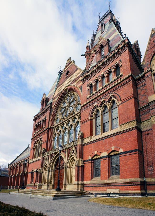 El teatro histórico de las chorreadoras de la Universidad de Harvard foto de archivo