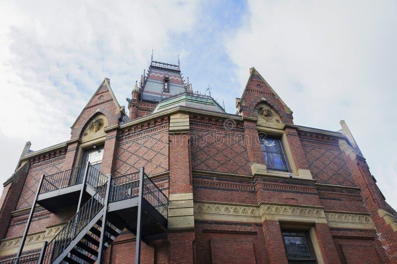 El teatro histórico de las chorreadoras de la Universidad de Harvard imagenes de archivo
