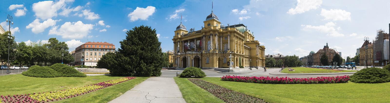 El teatro nacional croata foto de archivo libre de regalías