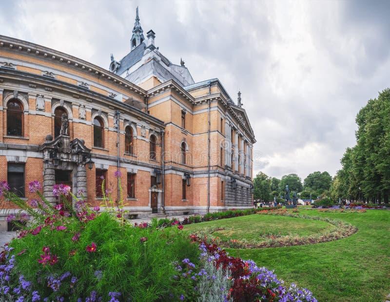 El teatro nacional en Oslo, Noruega foto de archivo libre de regalías