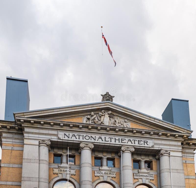 El teatro nacional en Oslo, Noruega fotos de archivo