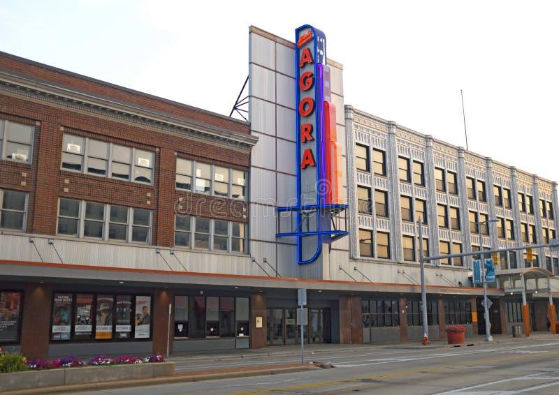 El teatro y el salón de baile famosos del ágora en la avenida de Euclid en Cleveland, Ohio, los E.E.U.U. imágenes de archivo libres de regalías