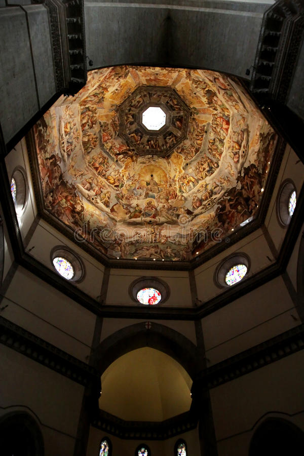 El techo del Duomo en Florencia, Italia Atracción numerosa imagenes de archivo