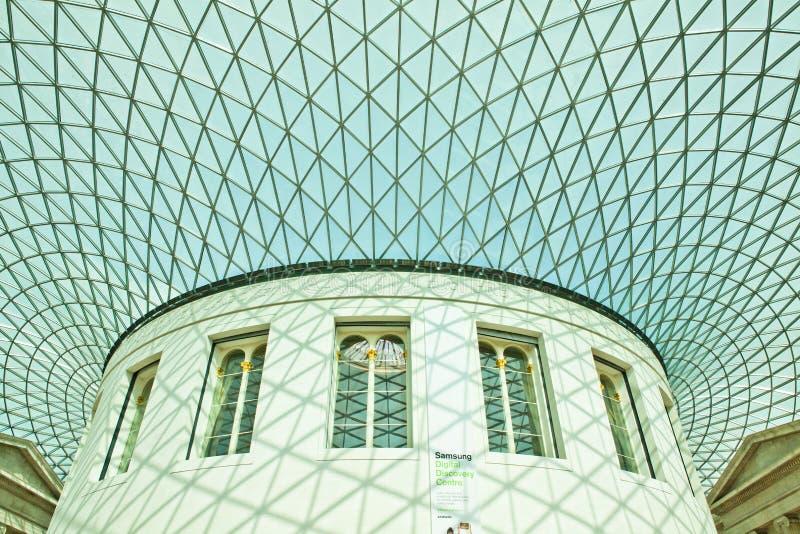 El techo del Gran Museo Británico imagen de archivo libre de regalías