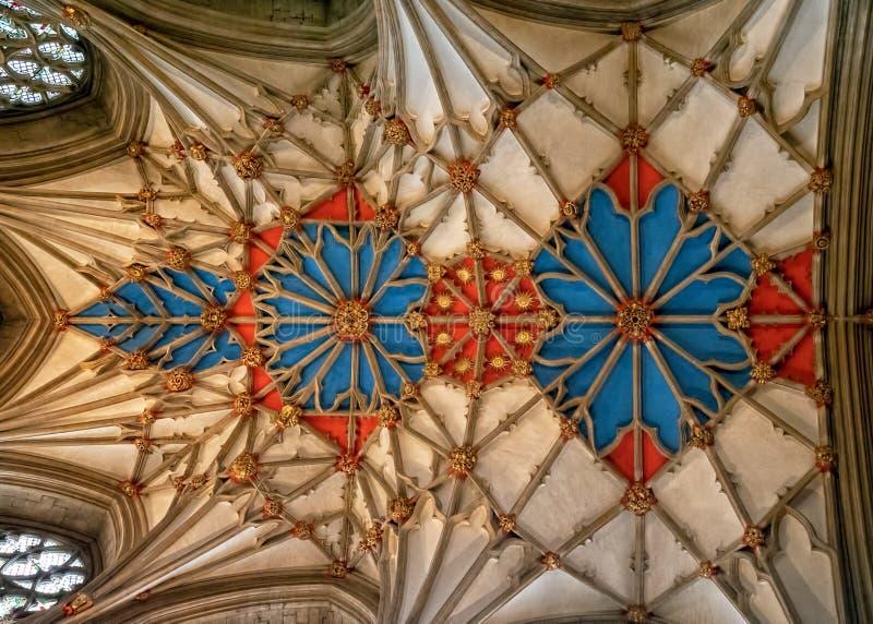 El techo del mano de papel, abadía de Tewkesbury, Gloucestershire, Inglaterra fotos de archivo libres de regalías