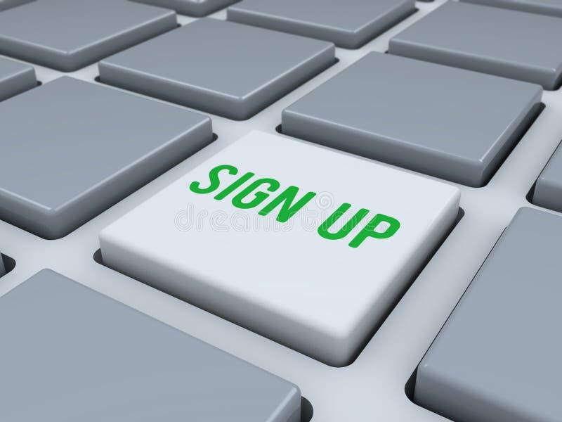El teclado abstracto con firma para arriba el botón libre illustration