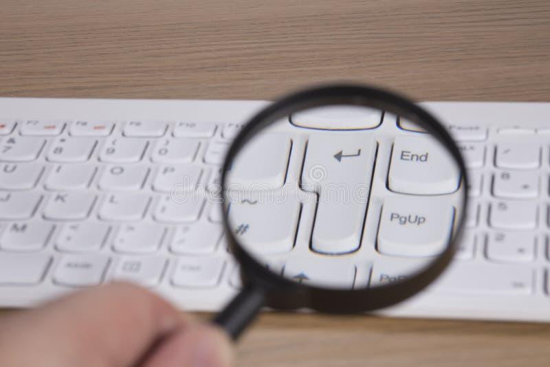 El teclado de ordenador incorpora llave fotografía de archivo