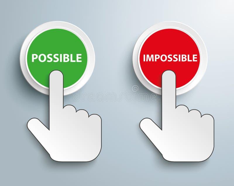 El tecleo empuja imposible posible del botón manualmente stock de ilustración