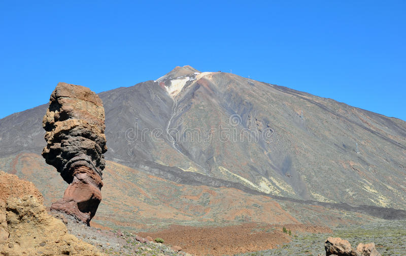 El Teide. Mountain on Tenerife, Spain stock images