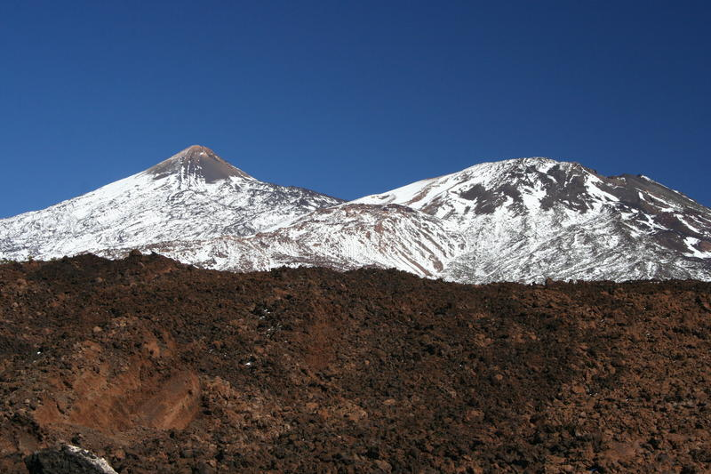 El Teide. Volcano, Tenerife, Spain stock photo