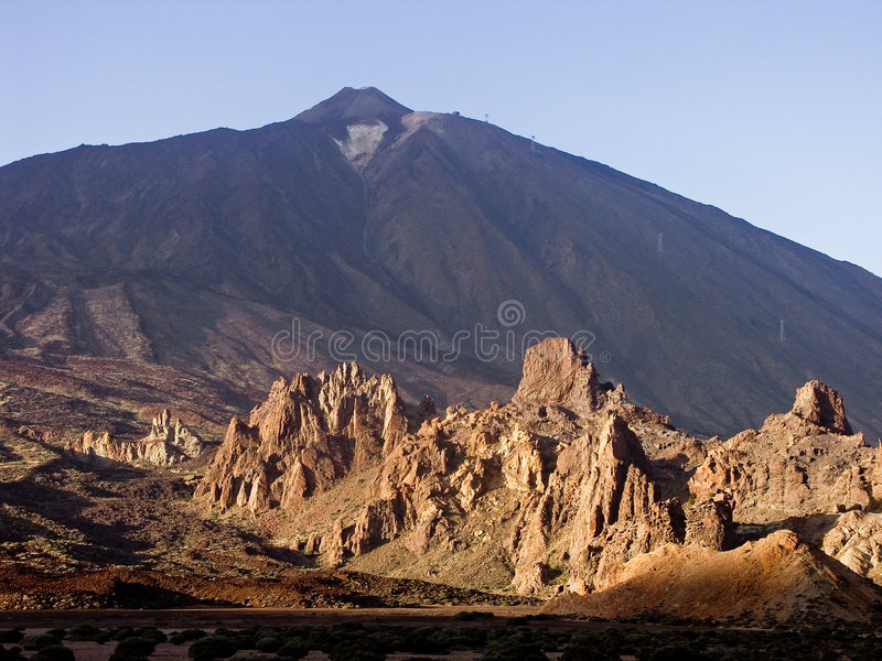 Download El Teide stock photo. Image of rock, canary, shadow, teide - 3073686