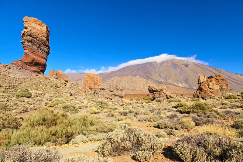 El teide view. In the island of tenerife stock photos