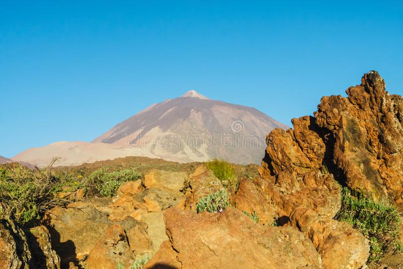 El teide volcano in the canary islands, Tenerife, Spain stock photo