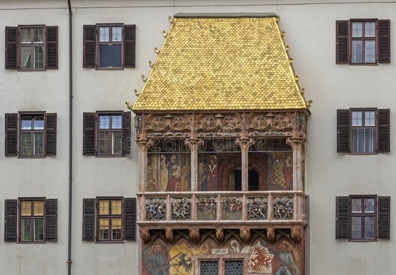 El tejado de oro de Innsbruck en Austria fotografía de archivo